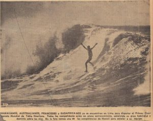 World Surfing Contest News Clipping, 1965